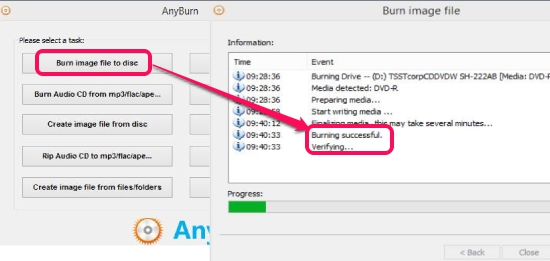AnyBurn- cd, blue ray, dvd burner software