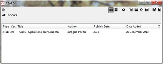 Azardi-ePub3 reader-interface