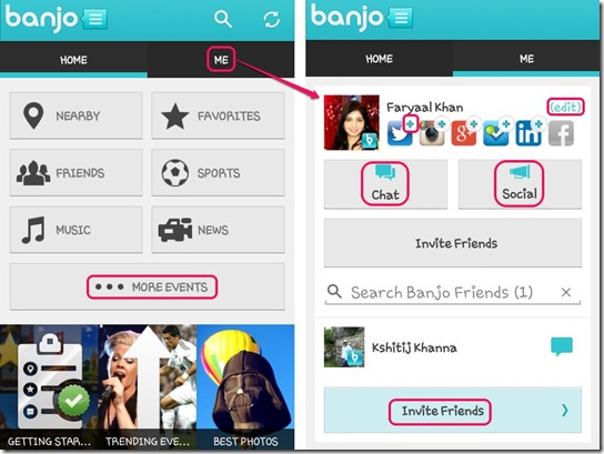 Banjo interface