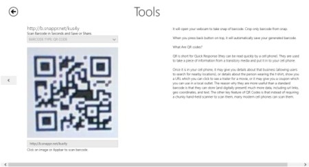 Barcoder- generate info for QR Code