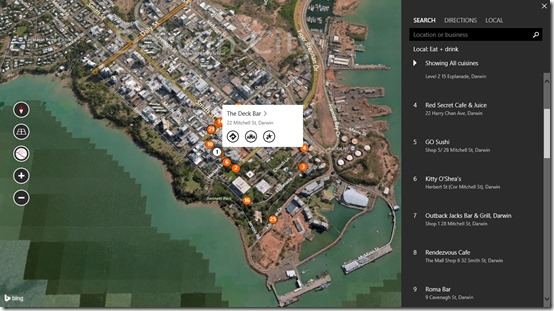 Bing Maps Preview- Local