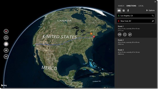 Bing Maps Preview- find path between two locations