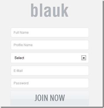 Blauk-social network for college students-sign up