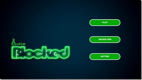 Blocked - main screen