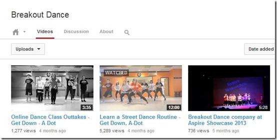 YouTube Channels-YouTube Channels-Breakout Dancer
