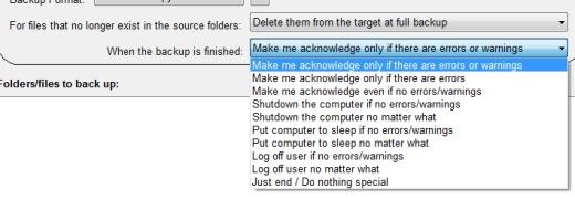 BrowserBackup- select a task