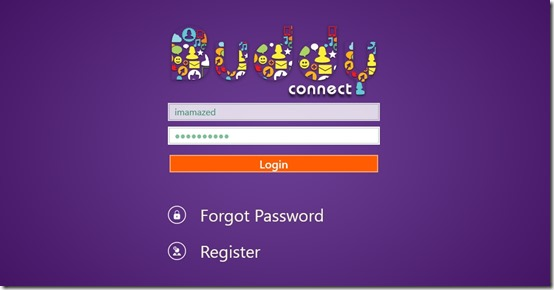 Buddy Connect- Register page
