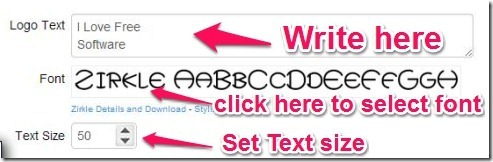 COOLTEXT text, font, size