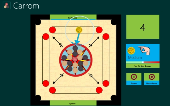 Carrom Lite- Set direction