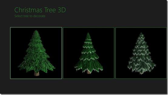 Christmas Tree 3D- Choose a tree