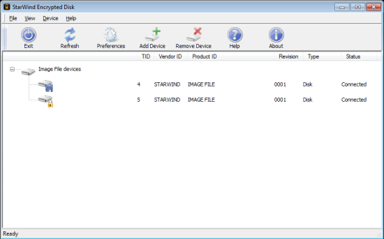 Create Encrypted Virtual Hard Disk - Encrypted Disk - Interface