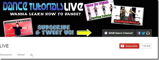 YouTube Channels-YouTube Channels-Dance Tutorials live
