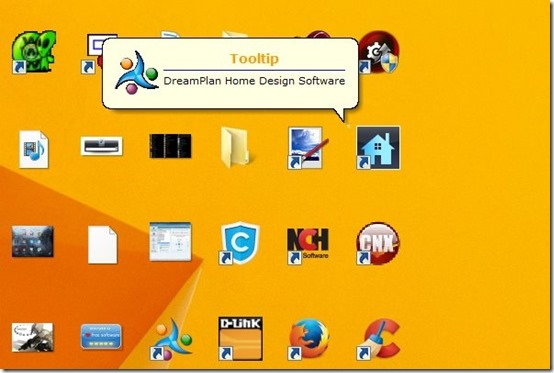 Desktop Icon Tray- arrange desktop icons-icons