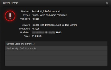 Driver Booster- view driver details