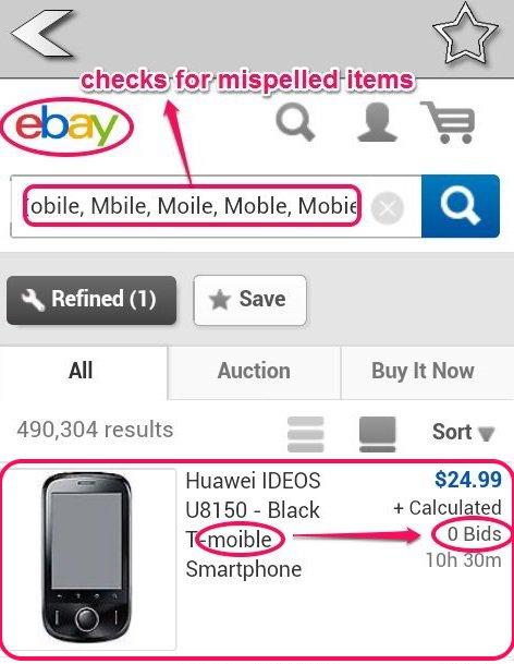Ebay-eaby misspelled item finder