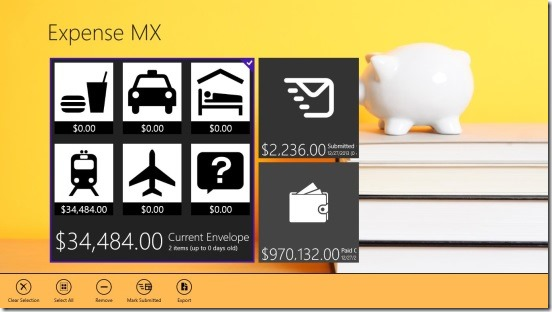 Expense MX - envelops
