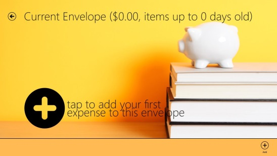 Expense MX - screen to add a record of expense