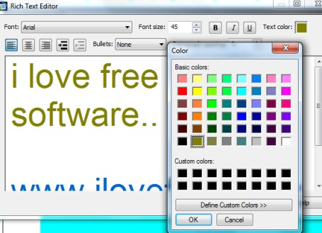 Express Points Presentation Software- rich text editor