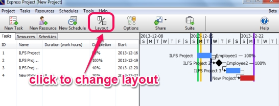 Express Project- change layout