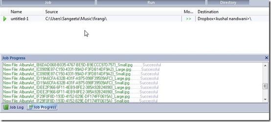 FileGee Backup & Sync Personal Edition-backup and sync software-run job