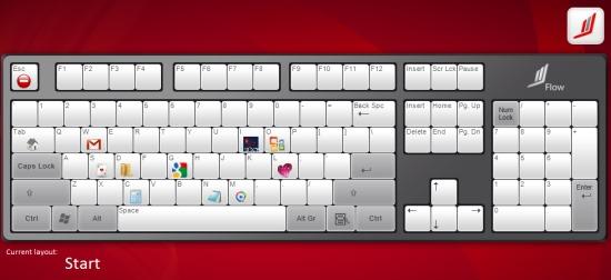 Flow- keyboard layout