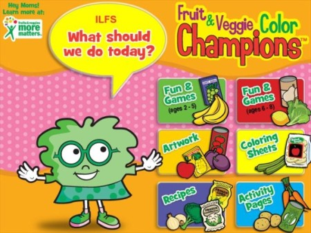 Food Champs-kids health website-home page
