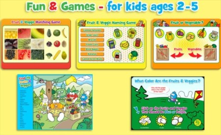 Food Champs-kids health website-play game