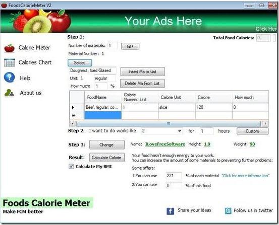Foods Calorie Meter