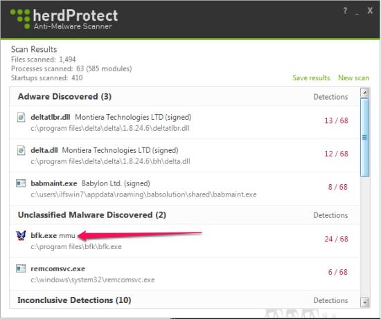 Free AntiMalware Scanner - HerdProtect - Scanning