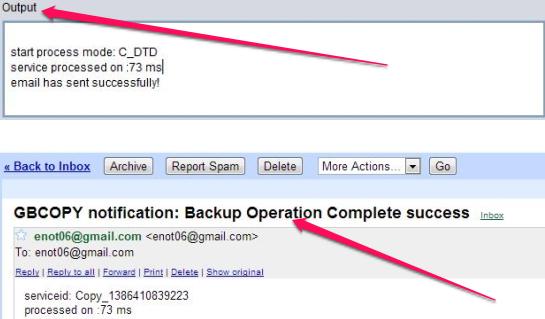 Free Cross Platform File Copy Utility - GBCopy - Email Notification