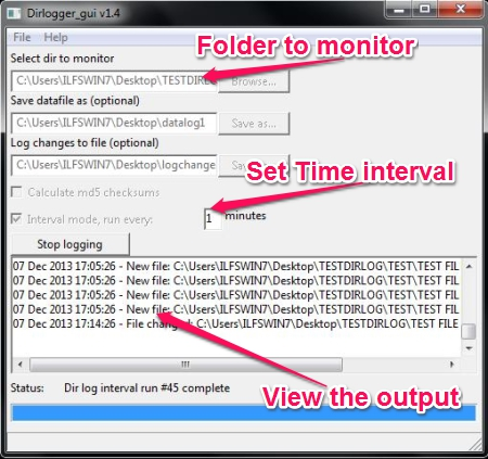 Free Folder Monitoring Software - DirLogger - How to run it