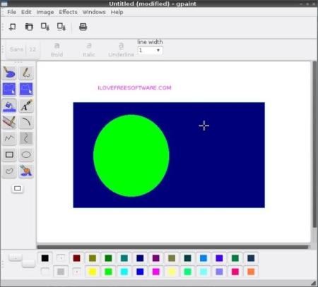 Free Lightweight Linux Distro - MiniNo - GPaint
