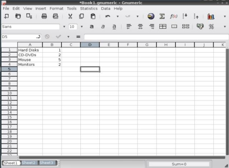 Free Lightweight Linux Distro - MiniNo - Gnumeric