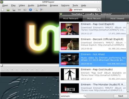 Free Lightweight Linux Distro - MiniNo - UMPlayer