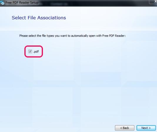 Free PDF Reader- associate pdf extension
