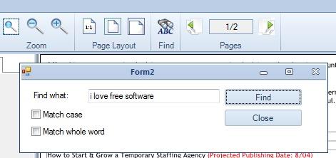 Free PDF Reader- find option