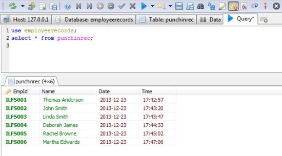 Free SQL Browser - HeidiSQL - Executing Queries