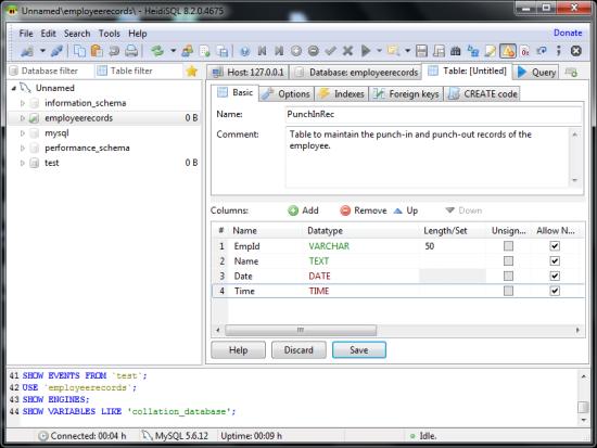 Free SQL Browser - HeidiSQL - Interface