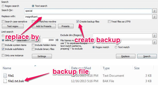Free Search And Replace Utility - GrepWin - Search and Replace