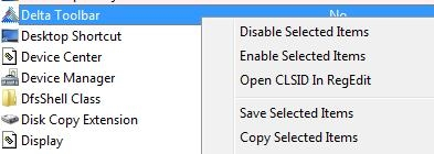 Free Shell Extension Viewer - ShellExView - Enable or Disable