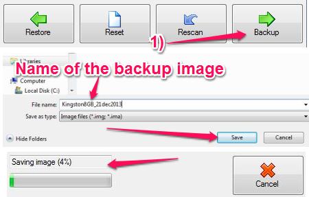 Free USB Image Tool For Windows - USB Image Tool - Creating a Backup