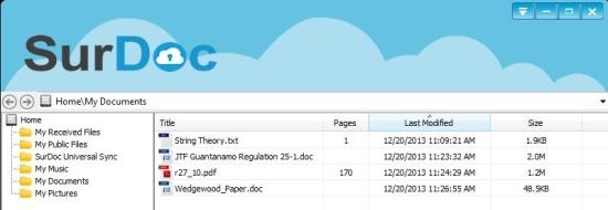 Free online data storage - SurDoc - Desktop Client