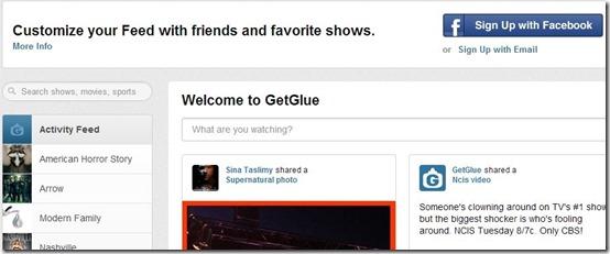 GetGlue-Getglue-home page