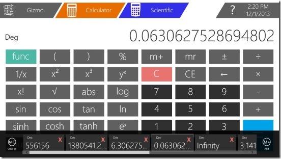 Gizmo - scientific calculator