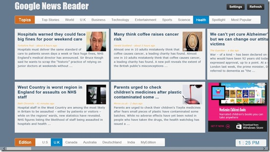 Google News - Reader- News