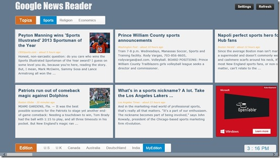 Google News - Reader- Personalized news