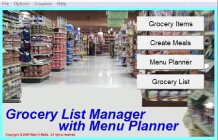 Grocery List Manager-grocery shopping list-interface