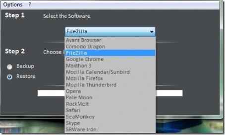 Heckasoft Backup Restore-backup software-interface