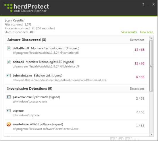 Free AntiMalware Scanner For Windows - HerdProtect