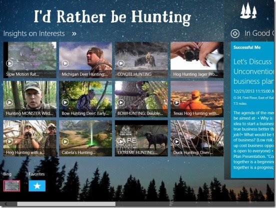 I'd Rather be Hunting - video tutorials in main screen